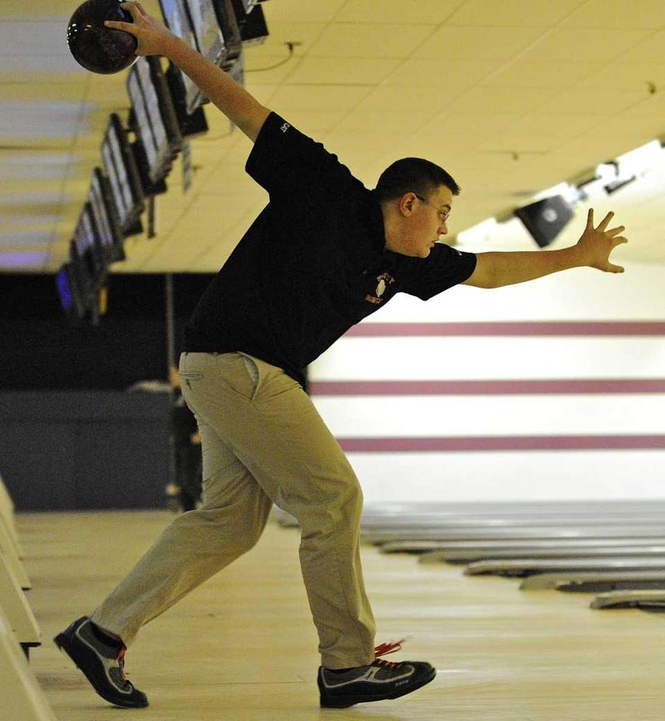 East Islip's Bobby Martin aims his bowling ball