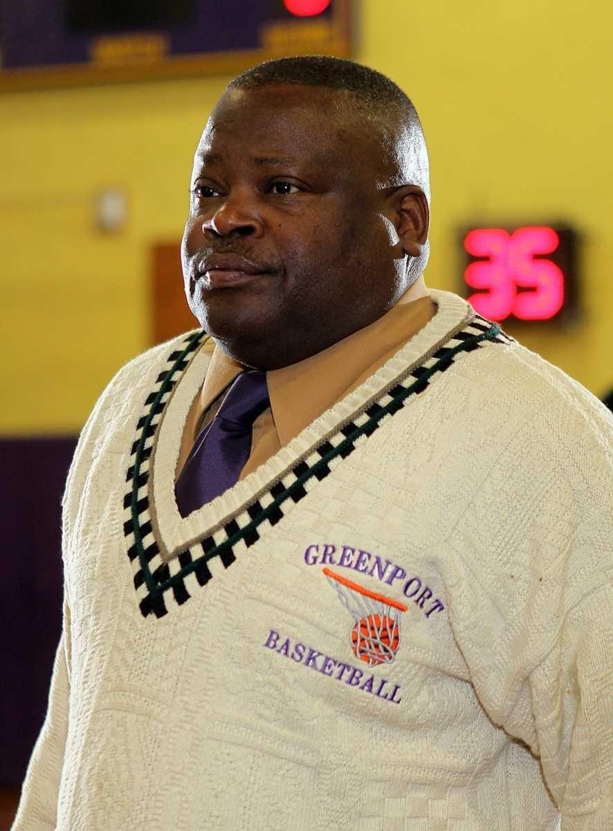 Greenport boys varsity basketball head coach Al Edwards.