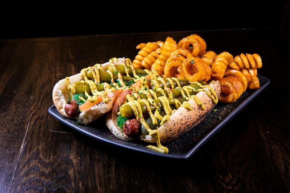 The Chicago Dog, 2 Chicago Style Hot Dog,
