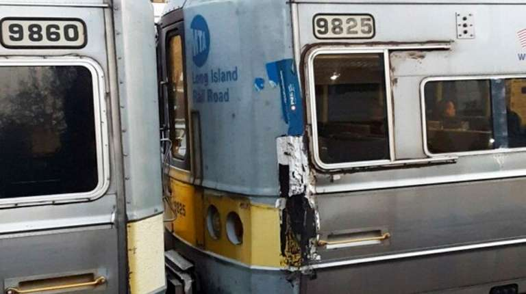 An LIRR commuter at the Mineola station took