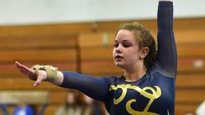 Tayla Quinn of Massapequa performs her floor routine