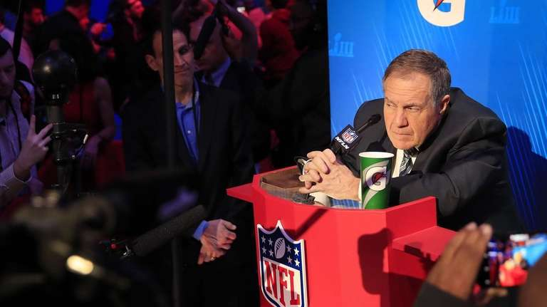 New England Patriots head coach Bill Belichick speaks