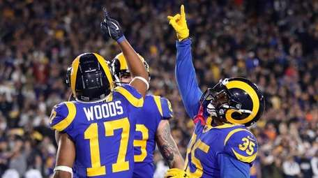 C.J. Anderson of the Los Angeles Rams celebrates