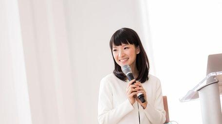 Japanese tidying guru Marie Kondo speaks at the