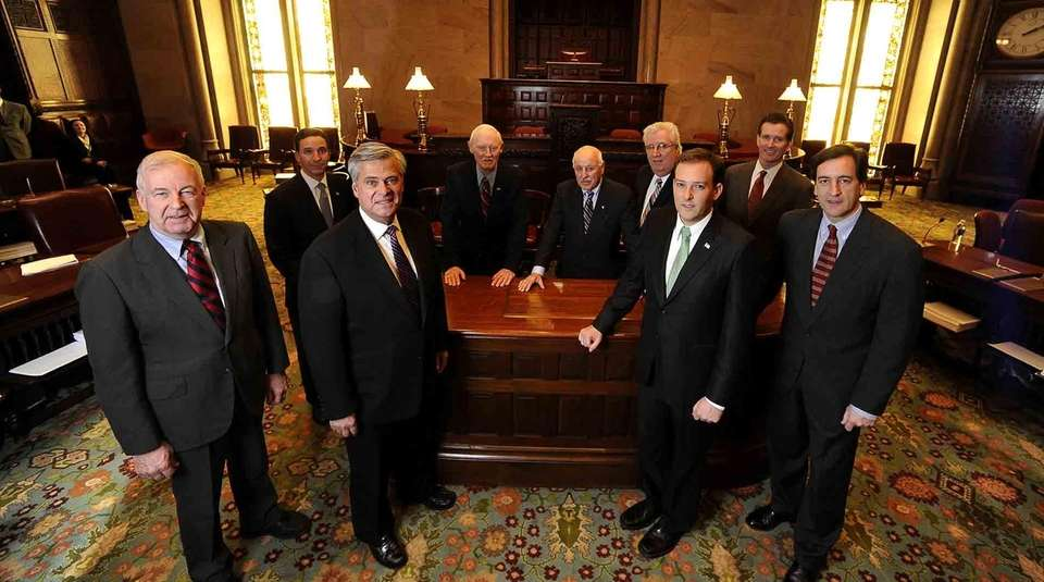 The nine Republican state senators from Long Island.