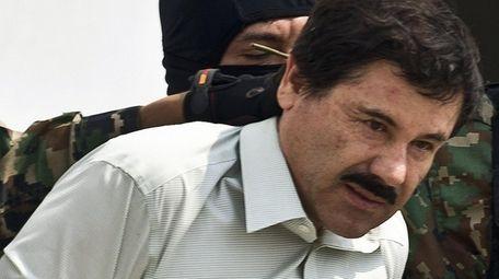"Alleged Mexican drug trafficker Joaquin ""El Chapo"" Guzman"