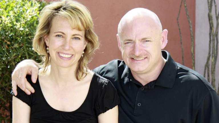 Rep. Gabrielle Giffords with her husband, NASA astronaut