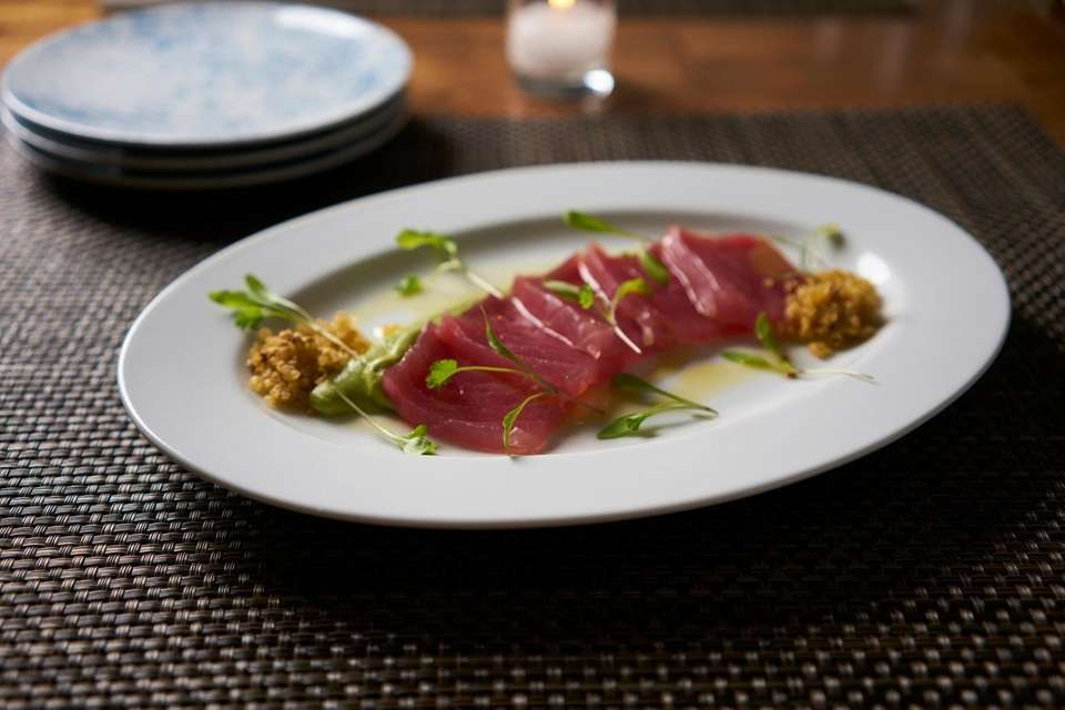 Yellowfin tuna crudo as served at 1221 at