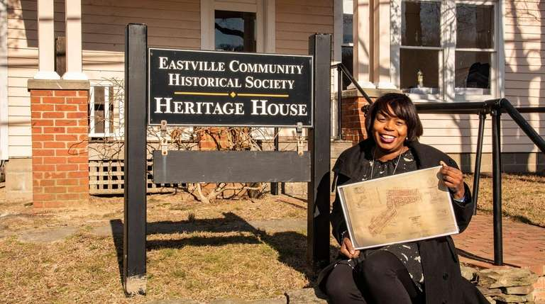 Georgette Grier-Key, a Long Island historian, poses at