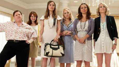 From left, Melissa McCarthy, Ellie Kemper, Rose Byrne,