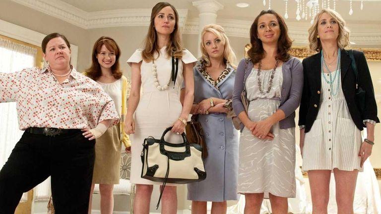 From left, Melissa McCarthy, Ellie Kemper, Rose Byrne,