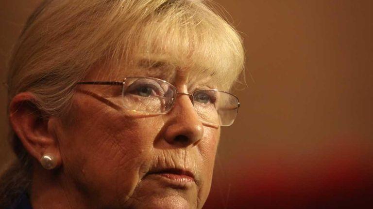 Congresswoman Carolyn McCarthy speaks about gun violence before