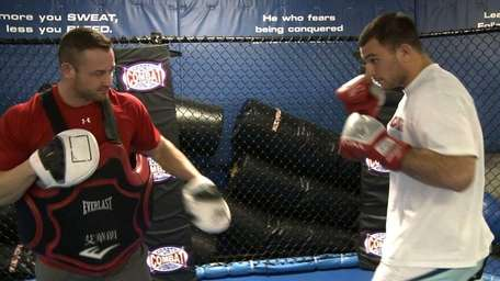 Gian Villante trains at Bellmore Kickboxing Academy for