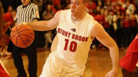 FILE - Stony Brook University's Bryan Dougher controls