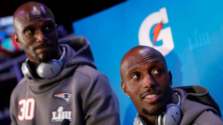 New England Patriots' Jason McCourty and Devin McCourty
