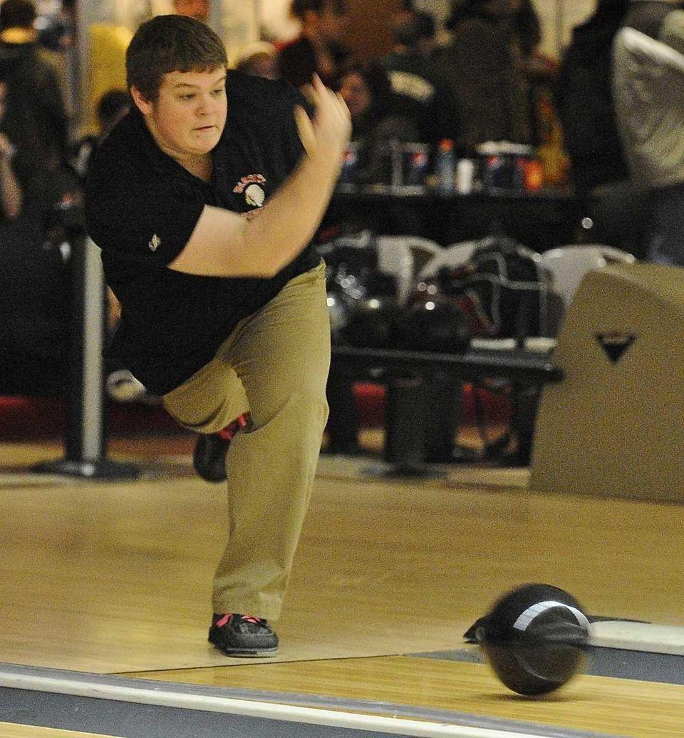 East Islip boys bowling team member Eddy Tuscan