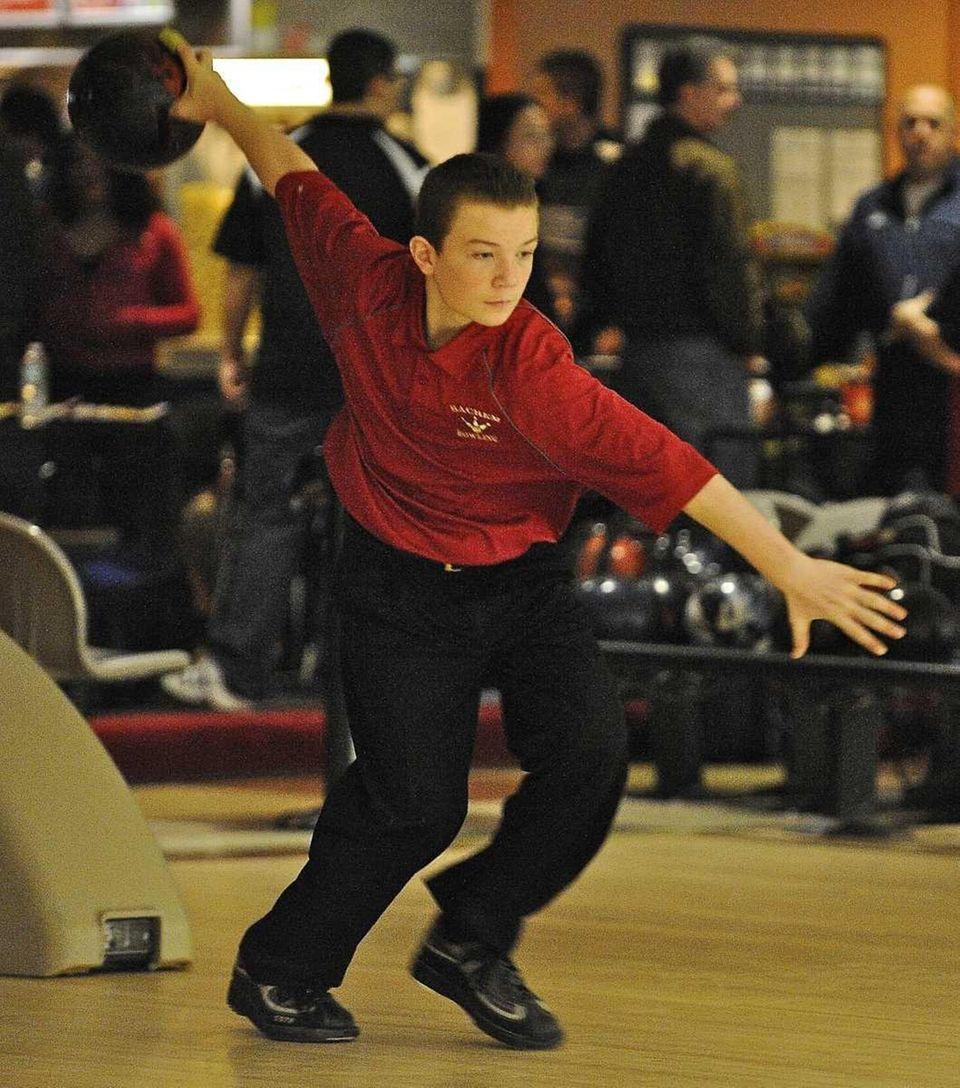 Sachem East boys bowling team member Nick Caruana