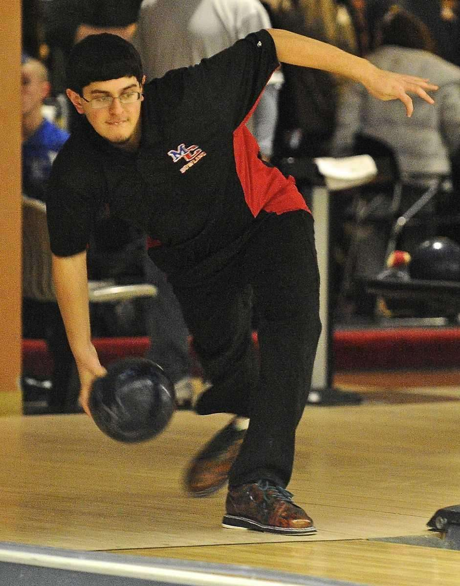 Middle Country boys bowling team member Rob Pepe