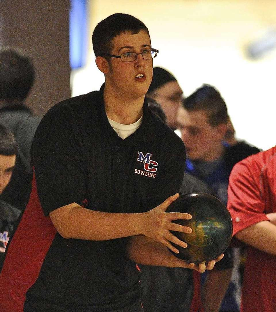 Middle Country boys bowling team member Matt Skalachi