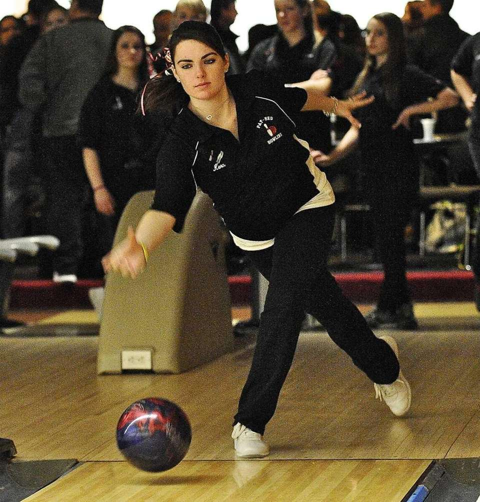 Patchogue Meford girls bowling team member Samantha Kern