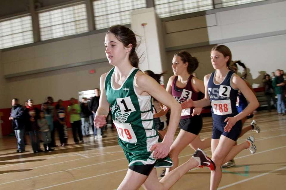 Kelsey Margey of Harborfields leads the pack on
