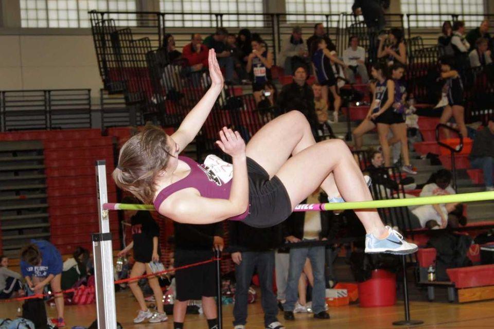 Kings Park's Kayla Koelbel won the high jump