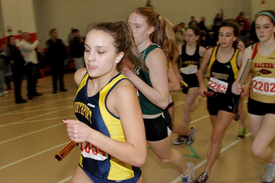 Sarah Zieve of Northport helps her team win