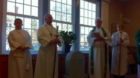Members of the clergy at St. Ann's Episcopal