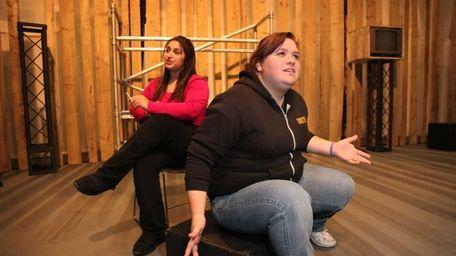 Sophomore Amber Ciccone, left, and senior Alyssa Smith,