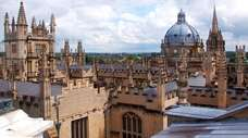 Oxford's skyline is peppered with spires and domes