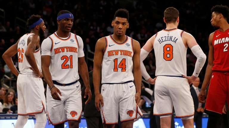 a0509145c3b ... 10-worst-New York-teams-ever list. Check back in April. The Knicks'  Mitchell Robinson #26, Damyean Dotson #21,