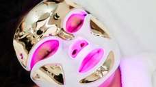 Magical mask: Although it looks eerily sci-fi, the