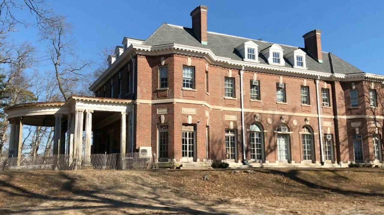 The historic Brookwood Hall in East Islip will