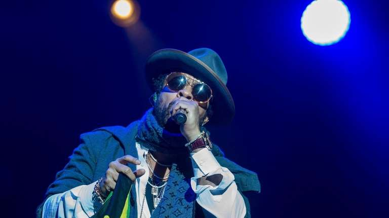 Shaggy performs during a concert in Budapest, Hungary