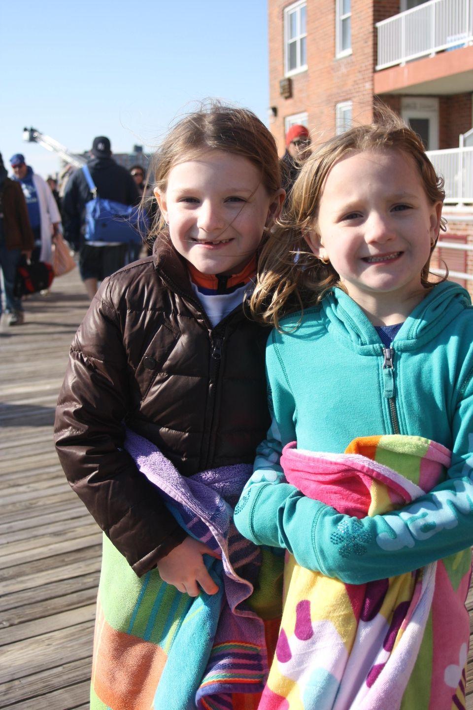 Shannon Boyle, 7, left, and Jolie Boyle, 5,