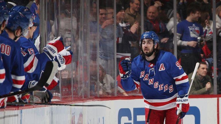 Mika Zibanejad S Hat Trick Rallies Rangers Past Devils Newsday