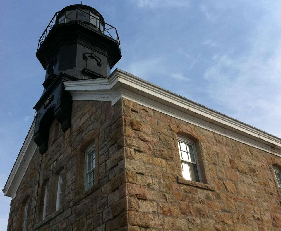 The Old Field Point Lighthouse was built in