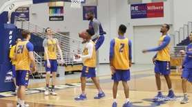 On Thursday, theHofstra men's basketball team talked about