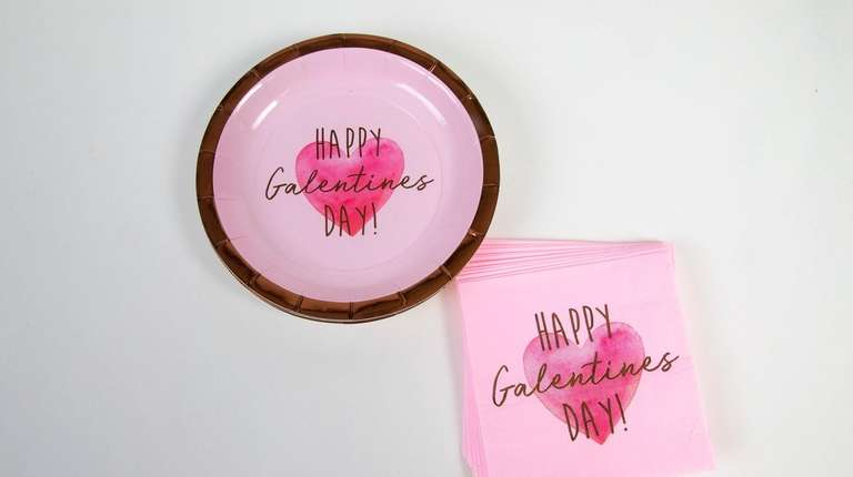 Galentine's Day paper dessert plates, $3.99 for 8,