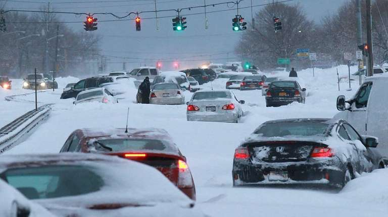 Route 347 in the aftermath of the blizzard
