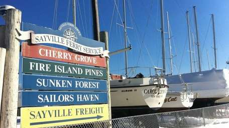 On River Road in Sayville, ferries depart for