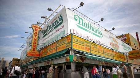 Nathan's shares were up more than 5 percent