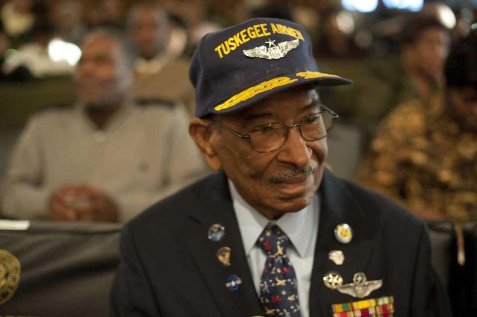 Tuskegee Airman Victor Terrelonge attends Hempstead Town's annual