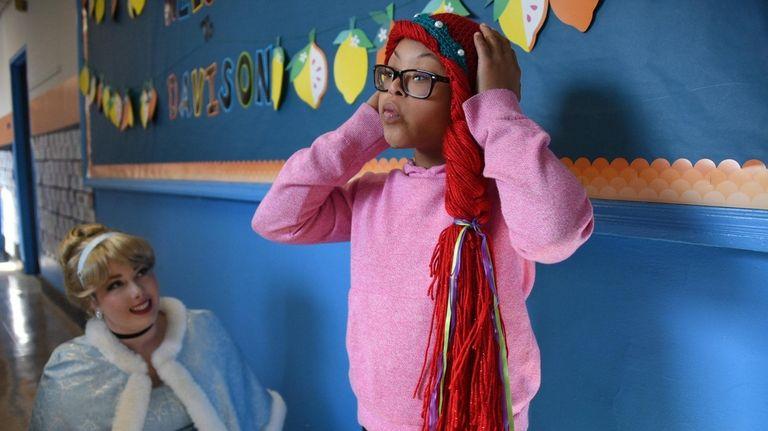 Sydney Clarke, a fourth-grade student at Davison Avenue
