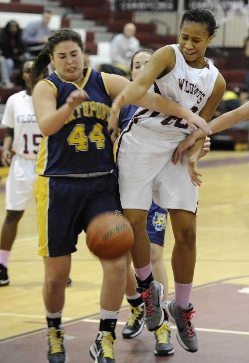 Northport's Allie Clark and Whitman's Esence Casey battle