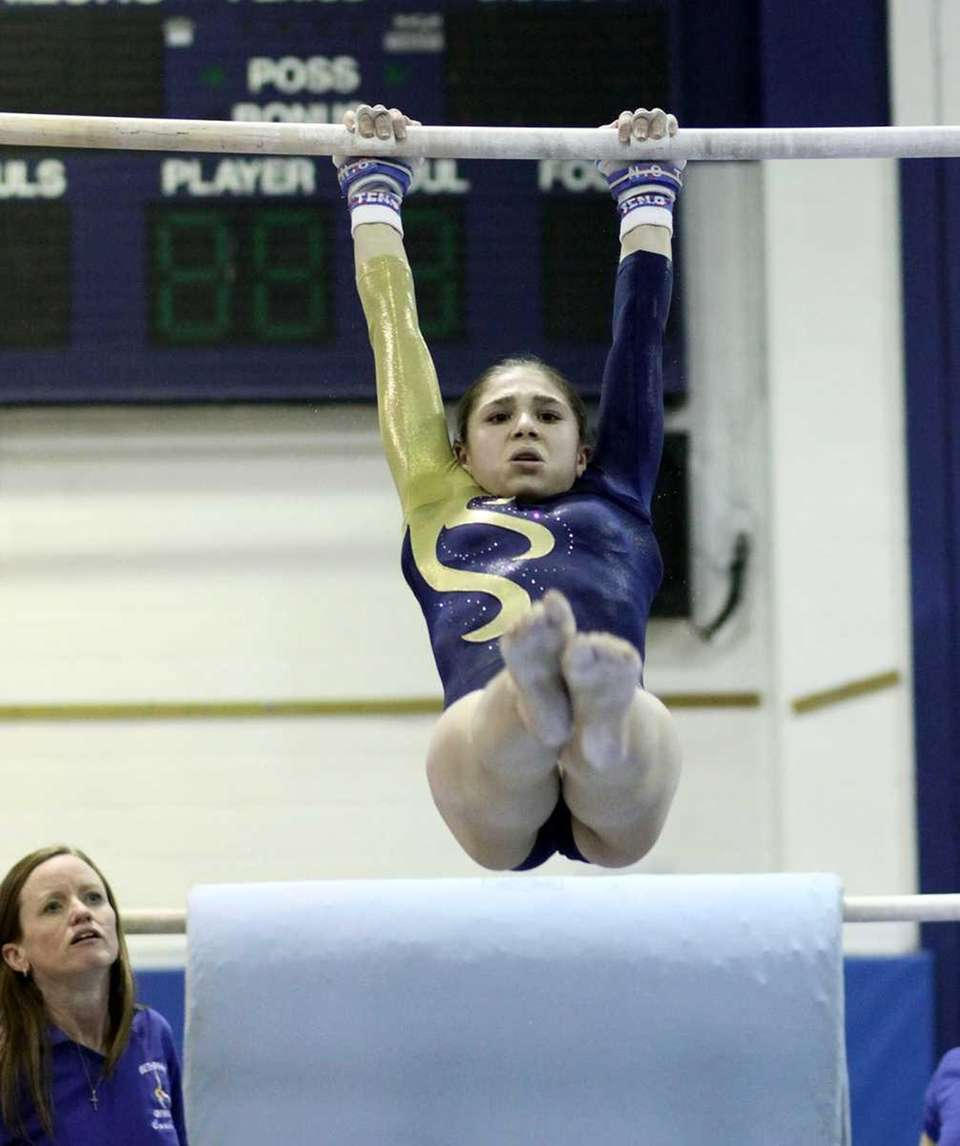 Bethpage's Serena Pergola during the Nassau High School