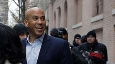 U.S. Sen. Cory Booker, D-NJ, leaves ABC studios