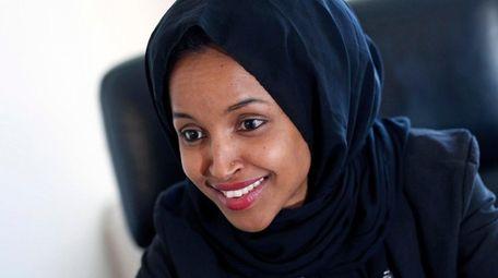 Ilhan Oman, Democrat of Minnesota, in 2017. She