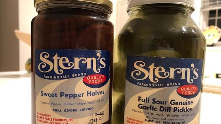 Pickles from Stern's Pickle Products of Farmingdale, probably