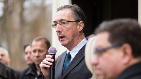 New York State Sen. James Gaughran, seen on